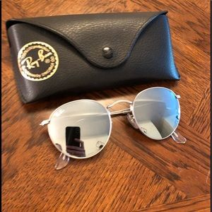 Ray-Ban Round Flash Lenses-Silver